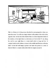 Picture Dictation of a Room