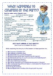 English Worksheet: Story completion-imaginative writing