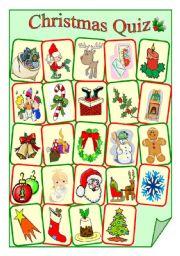 English Worksheet: Christmas Quiz Worksheet
