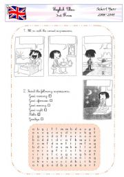 English Worksheet: Parts of the day