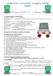 Printables Computer Science Worksheets worksheets computer science laurenpsyk free simple past test 3 pages