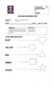 English teaching worksheets: 1st grade