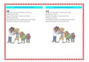 English Worksheets: Head, shoulder, knees and toes