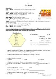 English Worksheet: Bee Movie