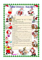 English Worksheets: Father Christmas - Busy Day