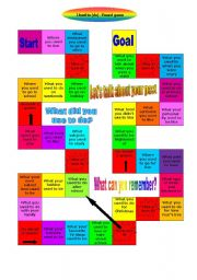 English Worksheet: Used to (do) - Board Game