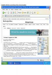 English Worksheets: Volcanic Eruption in Chile