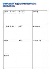 English Worksheet: Movie Genre