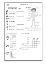 test for elementary school esl worksheet by gustavo20. Black Bedroom Furniture Sets. Home Design Ideas