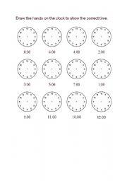 English worksheet: Time