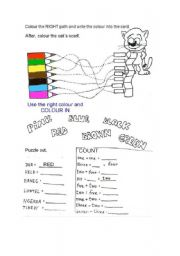 English Worksheets: Cat�s scarf