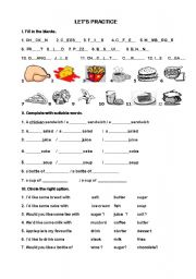 English Worksheet: What would you like ?