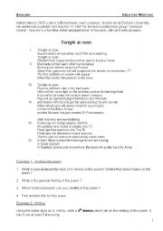 Worksheet Poetry Analysis Worksheet english teaching worksheets poems tonight at noon a poem analysis