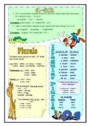 English Worksheets: Singular and Plural nouns
