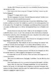 English Worksheets: 3 musketeers part 2