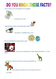 English Worksheets: Do you know these facts.
