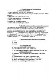 English Worksheets:  the pedestrian