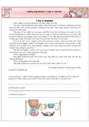 English Worksheets: Reading Comprehension: A Day to remember