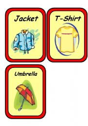 19 CLOTHES FLASHCARDS - Set 2/2
