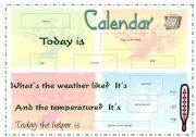 English Worksheet: Daily Calendar - part 1