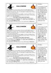 english teaching worksheets halloween. Black Bedroom Furniture Sets. Home Design Ideas