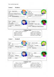 English Worksheets: Getting Personal Information Pair Work Worksheet