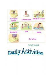 English Worksheets: daily activites