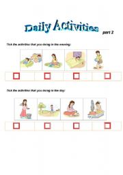daily activites   part2