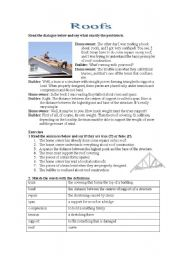 English Worksheets: roofs