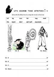 English worksheet: LET´S DESCRIBE