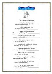 English Worksheets: Rumpelstiltskin
