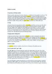English Worksheets: political scandals