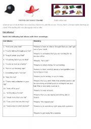 English Worksheets: HATS