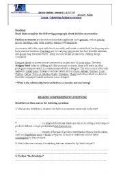 English Worksheets: marketing fashion accessories