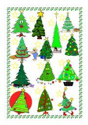 English Worksheet: Christmas trees - Description