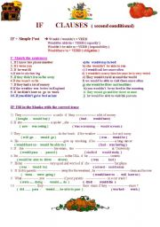 English Worksheet: if clauses : second conditional : if I had ...., I would /wouldn�t