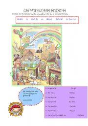 English Worksheets: at the pet shop 2