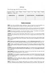 English Worksheets: ASTROLOGY
