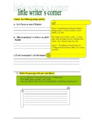 English Worksheets: WRITING CORNER