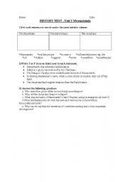 English Worksheet: mesopotamia