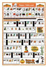 English Worksheets: HALLOWEEN CRYPTOGRAM