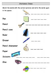 Classroom Objects - Stationery Items