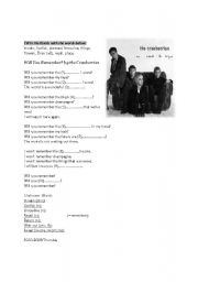 English worksheet: Will You Remember by The Cranberries