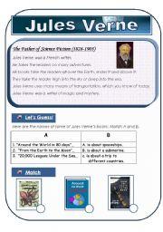 English Worksheet: Jules Verne -
