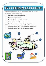 English Worksheet: submarines -