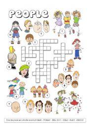 English Worksheets: People Crossword