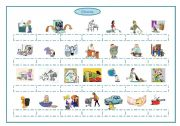 English Worksheet: Chores, frequency adverbs