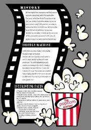 English Worksheets: Popcorn  lesson