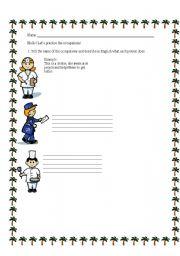 English worksheet: Occupations