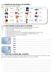 English Worksheet: test on numbers, age and nationalities (2)